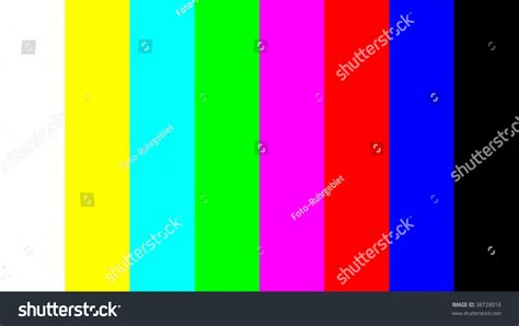 color pattern quiz color bar test pattern way assess stock photo 38728018