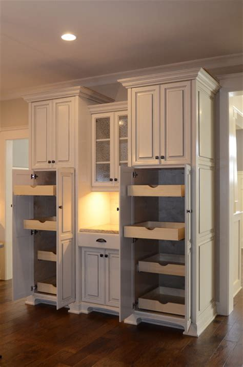 Built In Pantry Cabinet Custom Built In Pantry Traditional Kitchen Other