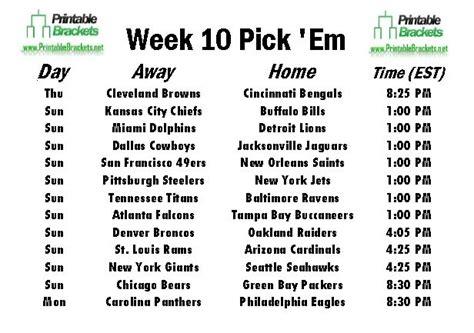 Office Football Pool Trophy Nfl Week 3 Schedule Em Office Pool 2013 Print Week 3