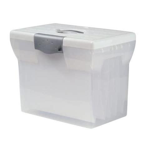 plastic file box plastic home file box a4 clear for suspension files and 040276