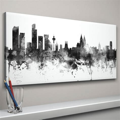 tattoo london liverpool street liverpool skyline cityscape black and white by artpause