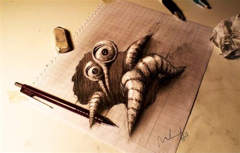 How To Make A 3d Drawing On Paper - fabulous 3d drawing on paper