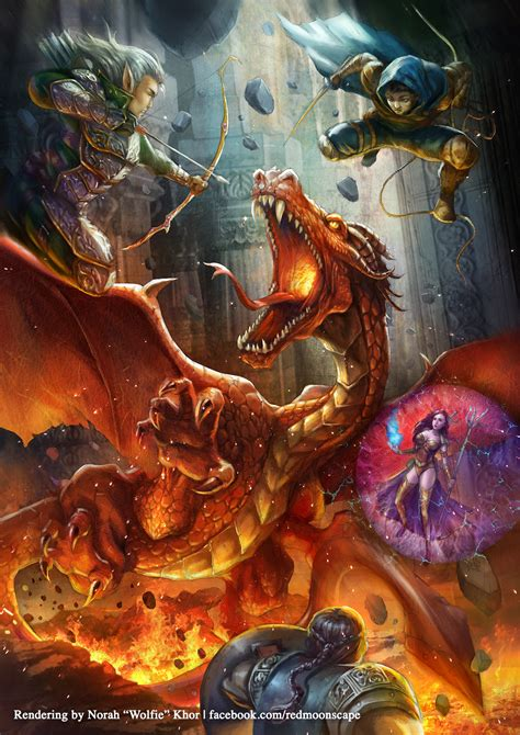 dungeons and dragons red dragon by wolfie chama on deviantart