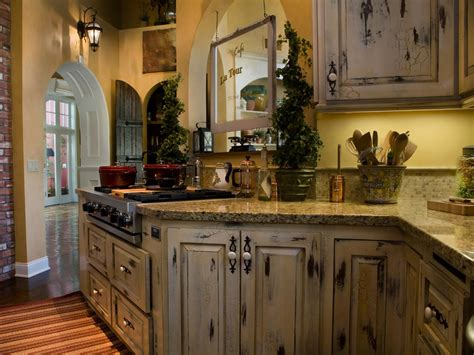 Distressed Kitchen Furniture | how to distressed green kitchen cabinets