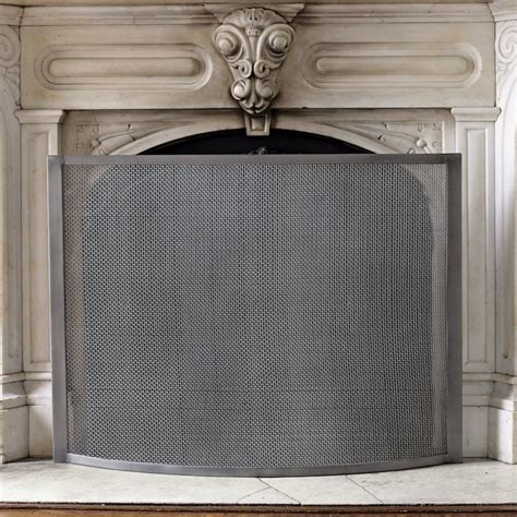 modern fireplace screen fireplace screen modern fireplace screens by west elm