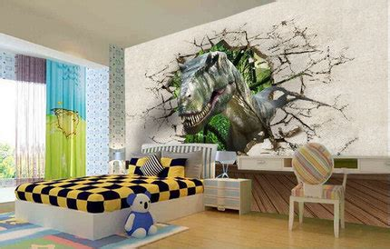 animal wall mural animal dinosaur mural sofa tv background wall wallpaper