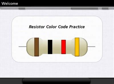 resistor colour coding with exles resistor color code practice wisc oer