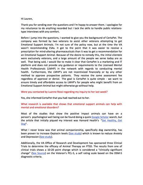 Emotional Support Animal Letter Florida airline industry emotional support animal fraud