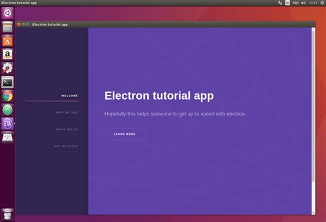ubuntu tutorial com electron packager tutorial