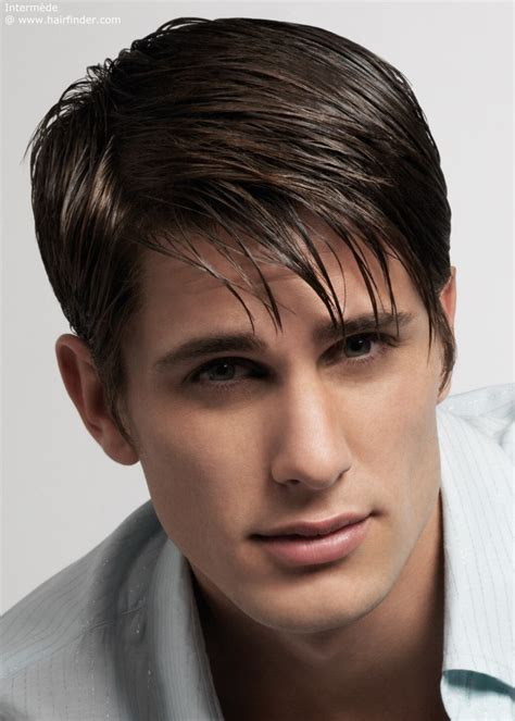 trimming hair styles and silky hair in mens straight hair hairstyles for men with straight and