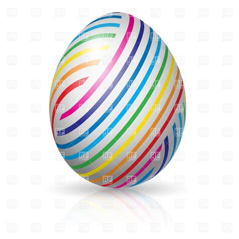 colorful eggs easter egg with colorful stripes vector image of