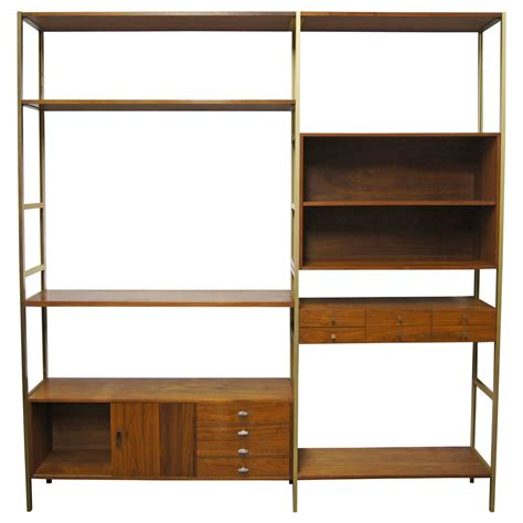 prefab bookshelves modular shelving unit by paul mccobb for h sacks and sons at 1stdibs