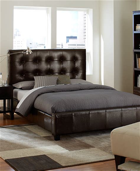 Brown Leather Bedroom Furniture Hawthorne Bedroom Furniture Collection Brown Leather Storage Beds Furniture Macy S
