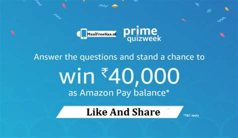 Online Quiz Contest For Money Win - amazon prime quiz contest win prize worth rs 40000 free sles daily free
