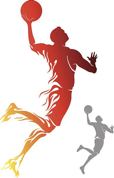 basketball clipart vector slam dunk clip vector images illustrations istock