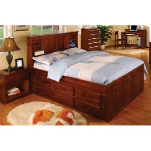 merlot captains bed with 12 drawers