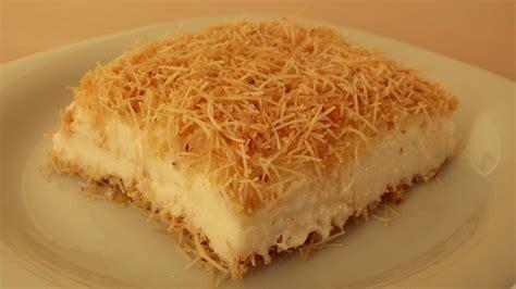 Muhallebili Kadayıf Tarifi Kadayıf Tatlısı Muhallebili Ottoman Desserts