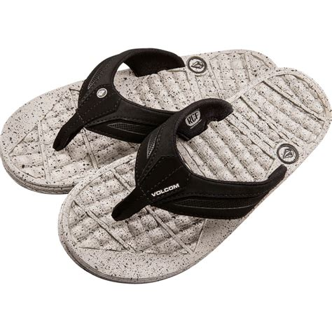 volcom recliner flip flops volcom recliner lx flip flop men s backcountry com