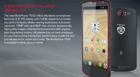wiko siege social prestigio lance le multiphone 7500 top for phone