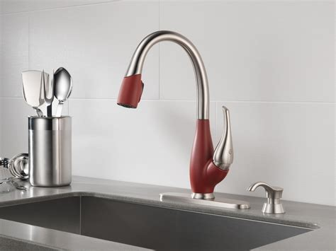 red kitchen faucet pin by cathy mcgregor on doug needs to know pinterest