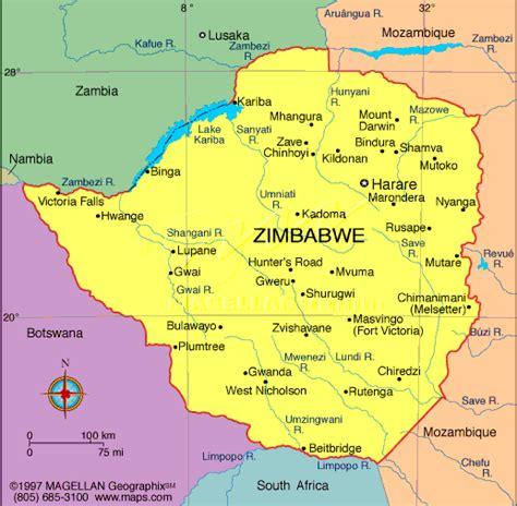 printable map of zimbabwe in africa maps map zimbabwe
