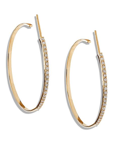 Hoops H 2002 Black List Yellow femme small hoop earrings with diamonds