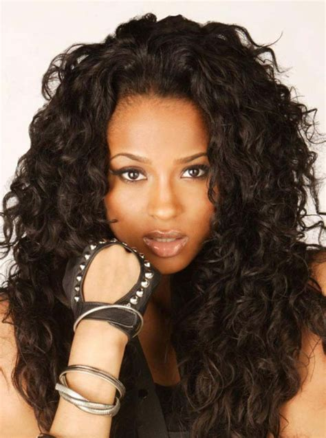 black hairstyle with tracks in black girls with long curly tracks 2015 prom wig human