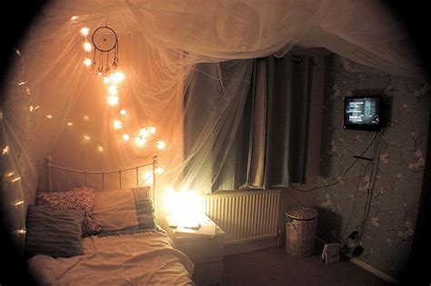 Pretty Bedroom Lights Bed Bedroom Lights Pretty Room Image 188888 On Favim