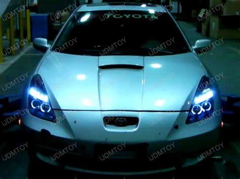 Toyota Celica Headlights 00 05 Toyota Celica Black Halo Projector Led