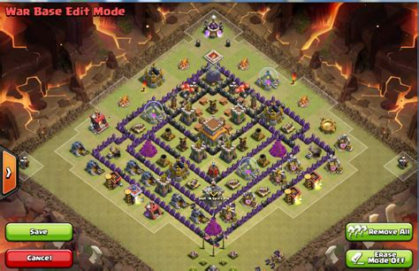 coc th8 layout with air sweeper coc war base th8 air sweeper