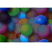 3D Neon Balls Sfondi Gratuiti Per Cellulari Android