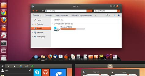 ubuntu themes for windows 8 1 ubuntu theme for windows 10 technical preview lenxp
