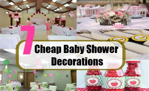 seven cheap baby shower decorations cheap baby shower