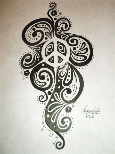 tribal peace tattoo negative space peace sign design by linscatmeow on deviantart