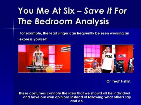save it for the bedroom you me at six save it for the bedroom analysis