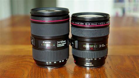 new lens vs new canon ef 24 105mm f 4 is usm lenses lensvid