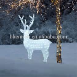 outdoor lighted reindeer decoration 120cm led light up acrylic reindeer outdoor