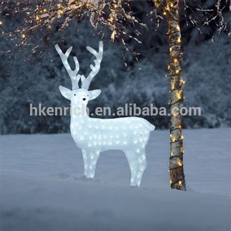 decorations light up reindeer 120cm led light up acrylic reindeer outdoor