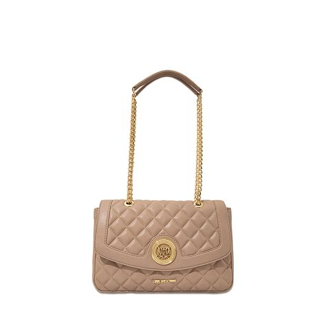 Moschino Bag moschino quilted flap bag in beige lyst