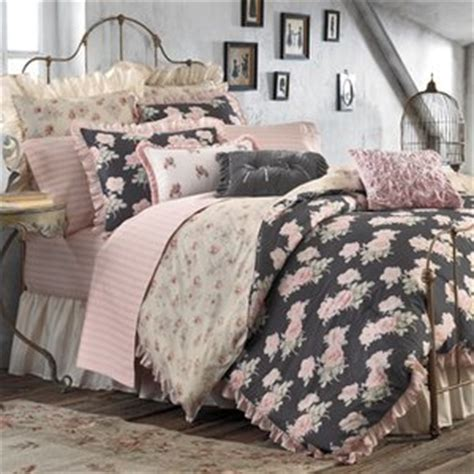amazon com grey pink vintage romantic floral isabelle rose shabby chic reversible queen