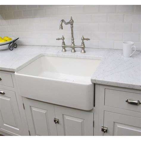 Overstock Kitchen Sinks Fireclay Sutton 23 25 Inch White Farmhouse Kitchen Sink