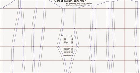 clothes pattern generator online larger than life the corset pattern generator is here