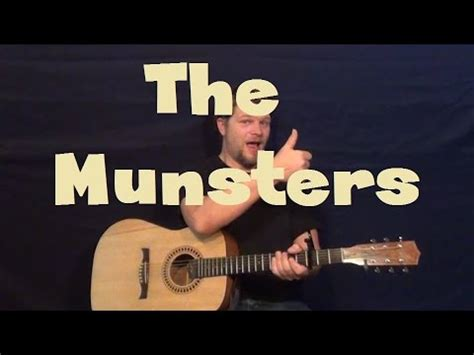 theme song from the munsters the munsters tv show theme guitar lesson how to play em