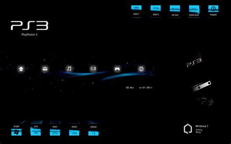 download theme for windows 7 rainmeter sony ps3 rainmeter skin for windows 7