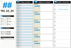 daily work schedule templates creative template