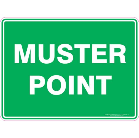 Muster Point Muster Point Australian Safety Signs