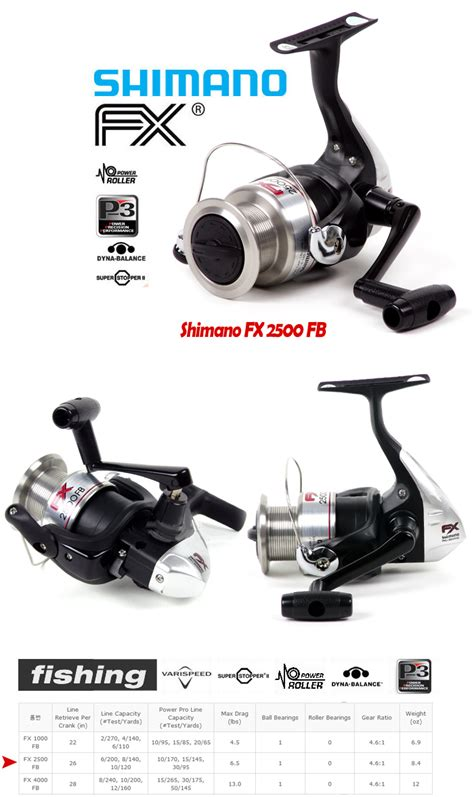 Reel Pancing Shimano Fx 1000fb new shimano fx 2500fb fx 2500 fb spinning reel freeship ebay