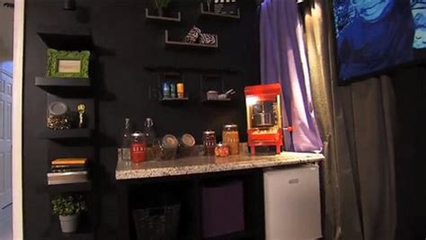 diy home theater concession stand design  ideas