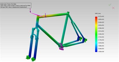 bike frame design loads linear dynamic of a bike frame solidworks engineering