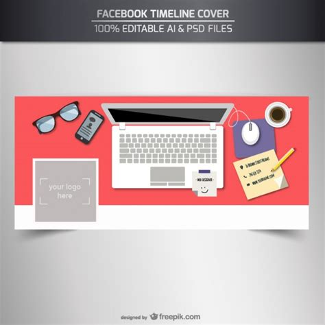 template for photos timeline cover template vector free